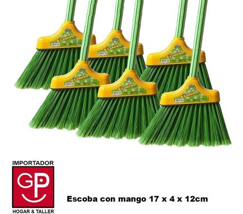 Escoba X 6 Piezas Con Mango 17 X 4 X 12cm
