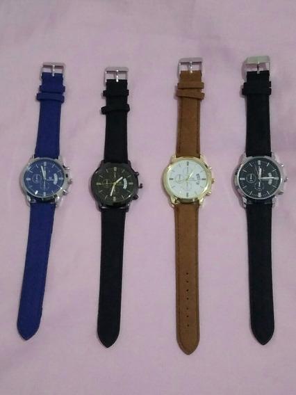 4 Relógios Feminino Shaarms Luxo Com Calendário