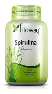 Spirulina 450mg - 60 Cápsulas - Fitoway
