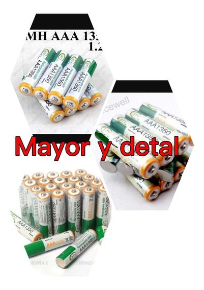 Pila Bateria Recargable Aaa Bty De 1350 Mayor Y Detal