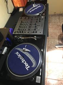 Par Technics Sl-1210 Mk2 + Shell + Mixer Pioneer **baixou**