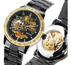 Relógio De Luxo Winner Mecânico Automático Masculino