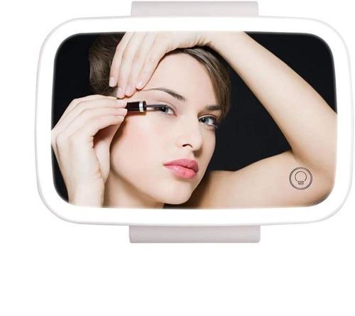 Imagen 1 de 2 de Espejo De Maquillaje Para Coche Con Luces Led Para Coche, Ca