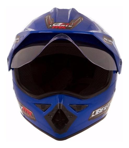 Capacete para moto cross Pro Tork Liberty MX Pro Vision azul L