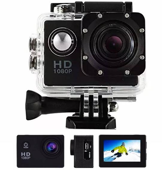 Action Cam Câmera Filmadora Esportiva Hd 1080p Capacete Moto