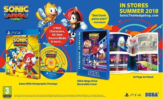Sonic Mania Plus + Artbook - Ps4 - Midia Fisica! Sem Juros!