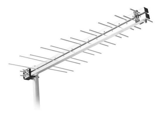 Antena Log Externa Digital Lu-14 Plus Aquario - Prata