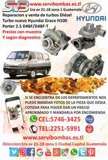Turbo Hyundai Grace 2.5 D4bf Guatemala