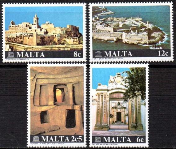 Malta 1980. Sítios Turísticos Da U N E S C O (4)