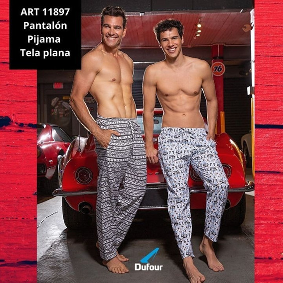 Pantalon Pijama Solo Hombre Estampado Tela Dufour 11897