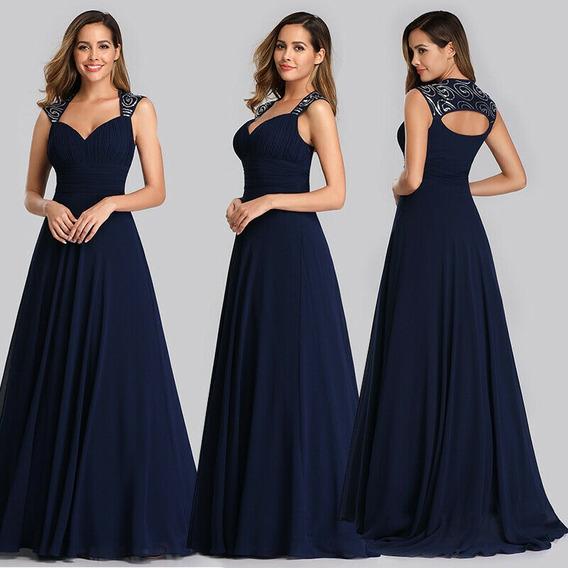 Vestido De Quince-fiesta- Egreso Azul Talle S (mod.56)