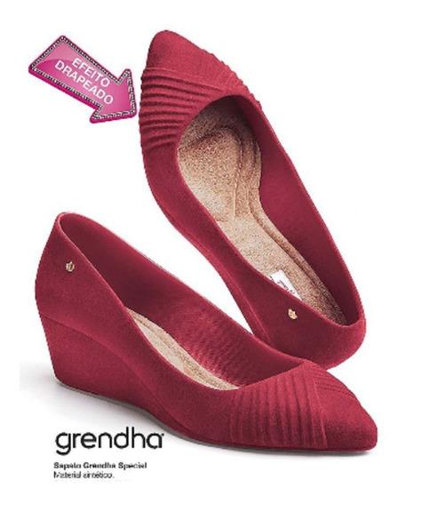 Calçado Sapato Grendha Special Vermelho Nr 35 Usado