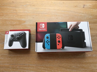Nuevo Nintendo-switch-32gb-gray-console-with-neon-red