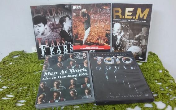 Coletânea Dvds Internacionais- Inxs, R.e.m, Toto, Tears...