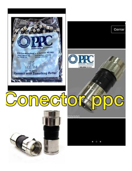 Rg6 Conectores De Compresion Perfect Vision 50 Unidades
