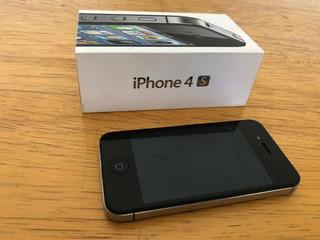 iPhone 4s 16gb Original Preto Usado Na Caixa Tudo Funcionand