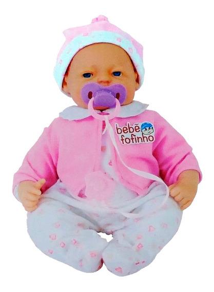 Boneca Bebê Fofucha Com Expressão Real - Fala Chora E Dorme
