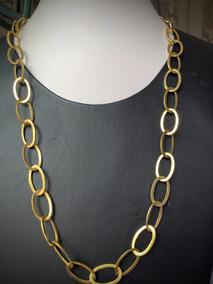 Colar Ouro 18k-750-30.4gr. Comp. 61cm. Larg. 10mm.