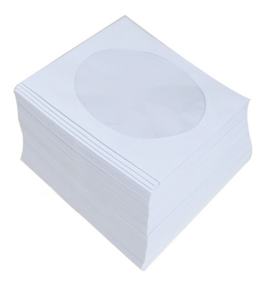 2000 Capas Envelopes Branco Cd / Dvd Janela Transparente
