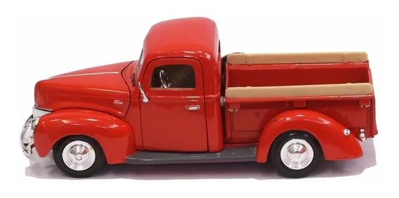Miniatura Ford Pickup 1940 Vermelha Escala 1;24 Nova