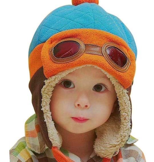 Gorro Aviador Bebe Piloto Ropa Bebe Niños Gorrito Colores