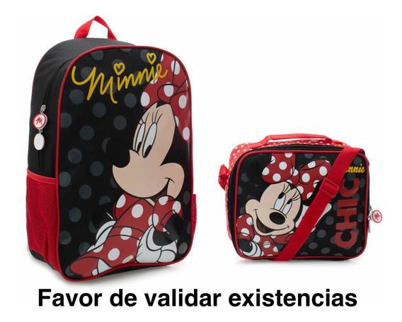 Set De Mochila Y Lonchera Disney Minnie Mouse