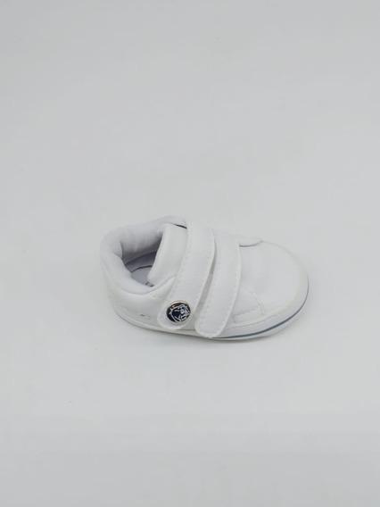 Tênis Klin Recem Nascido Branco Com Velcro