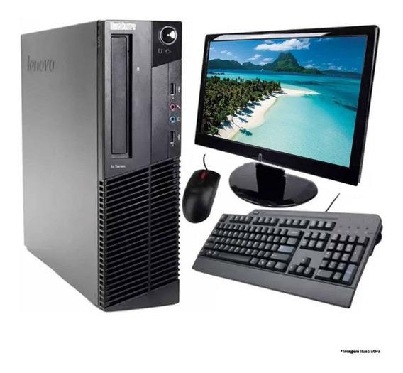 Cpu Lenovo M92p 2gb 1tb Core I5 2ºg + Monitor 19 Completo