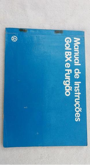 Manual Do Proprietário Gol Bx Ou Furgão 85, Motor A Ar.