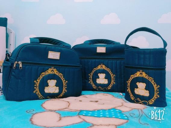 Kit Bolsas Maternidade Da Janca Baby Azul Marinho Masculino