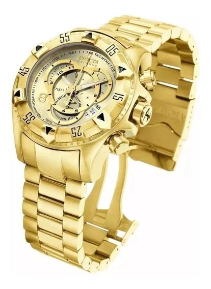 Relógio Invicta 6471 Masculino Original Dourado Com Caixa