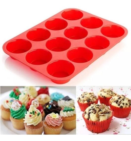Molde Muffins Silicona Premium X 12 Oferta Única !!!