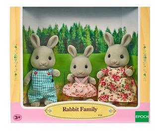 Sylvanian Families Familia De Conejos X 3 Original