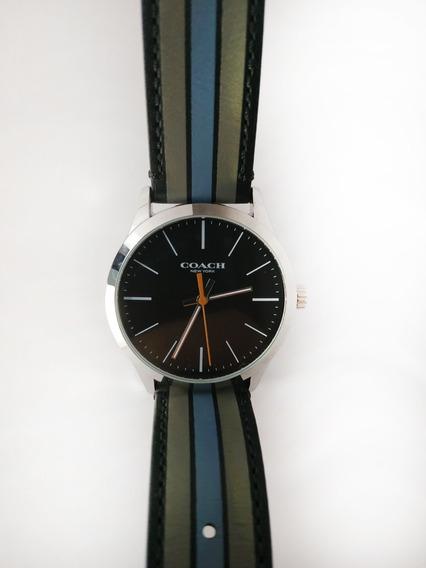 Reloj Coach Azul Con Negro