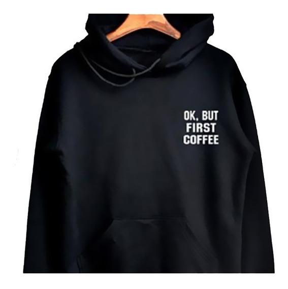 Envío Gratis Hoodie First I Need Coffee C/ Gorro Nueva Unisx