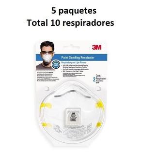 Respirador 3m Para Partículas 8210v Polvos Lijado (10 Pzs)