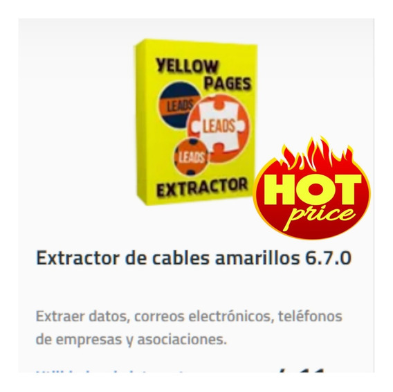 Paginas Amarillas Extractor (yellow Pages Extractor)