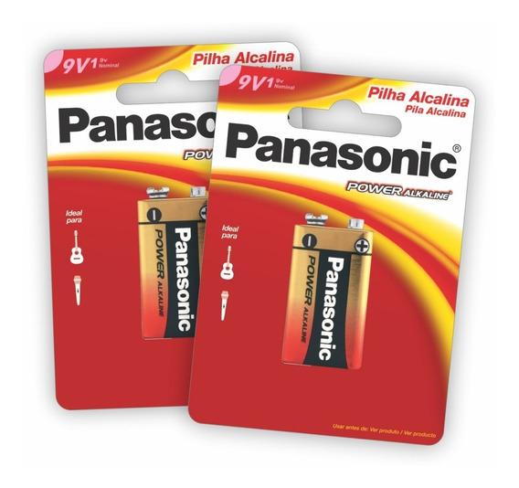 2 Baterias Alcalinas Panasonic 9v