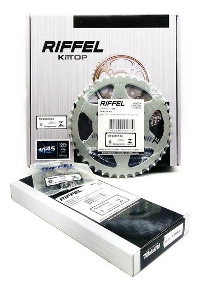 Kit Relação Transmissão Xtz150 Crosser Riffel Com Retentor