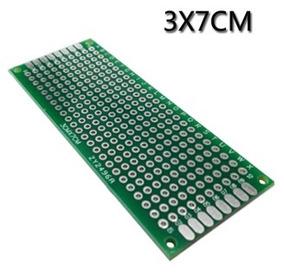 Placa Dupla Face 02 Pçs Fibra Perfurada Arduino 3x7 Cm Carta
