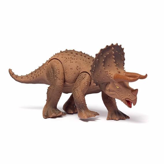 Dinossauro Triceratops Dino World Cotiplas C/ Som Brinquedo