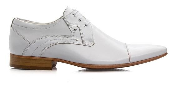 Sapato Estilo Italiano Bigioni Branco 100% Couro Legítimo