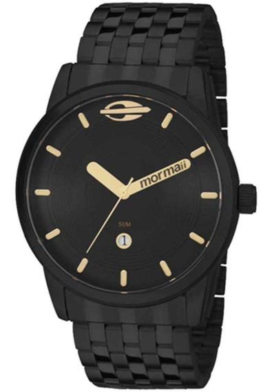 Relógio Mormaii Masculino Em Aço Preto Mo2115aa/4p - Nf-e