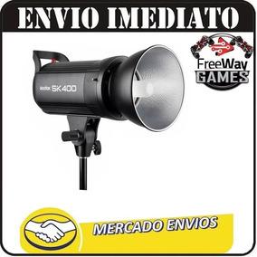Flash De Estúdio Sk400 Greika/godox - Tocha 400w + Nfe