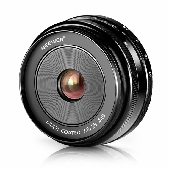 Neewer 28mm F/2.8 Manual Focus Prime Fixed Lens For Olmpus A