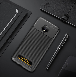 Capa Case Anti Impacto Carbon Moto Z4 / Z4 Play