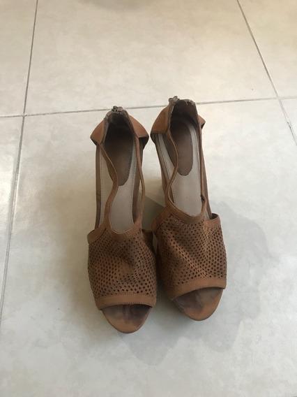 Sandalia Alpargata Wedge Zapato Bershka Camel Ante 25