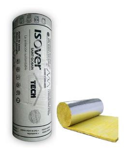 Lana De Vidrio Isover Tech 20m2 - Foil Aluminio - Plata