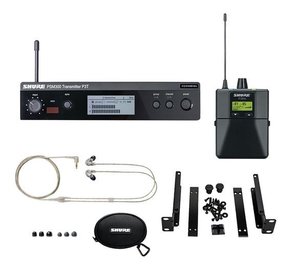 Sistema In Ear Shure Psm 300 P3tbrra215cl K12 C/fone