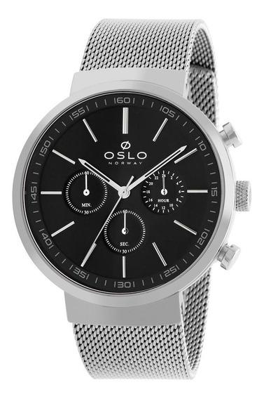 Relógio Oslo Masculino Ref: Ombsscvd0001 P1sx Slim